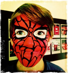 FACE PAINTING SPIDER MAN